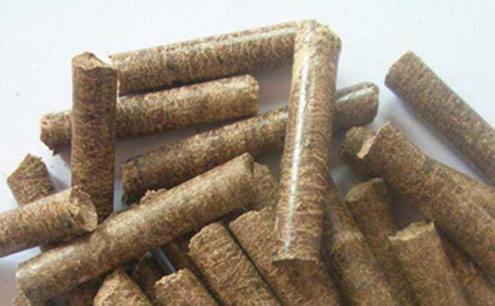 木屑颗粒机生产颗粒实拍