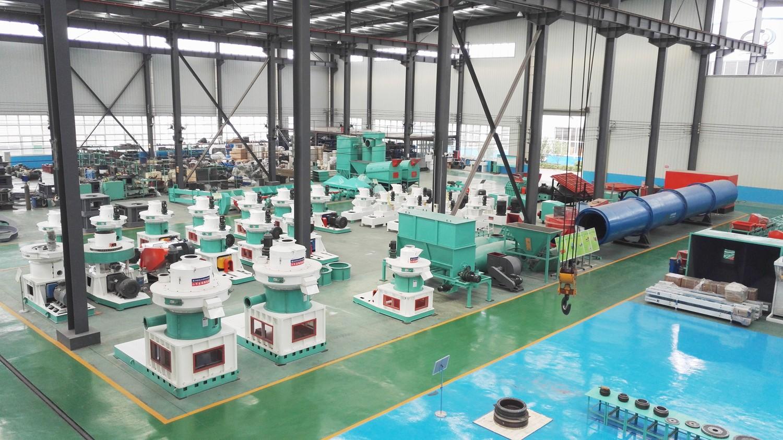 木屑颗粒机生产厂家车间图片